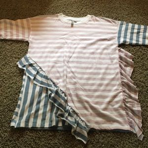 NWOT asos stripe top